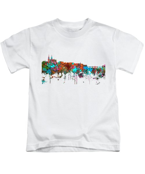 Basle Switzerland Skyline Kids T-Shirt by Marlene Watson