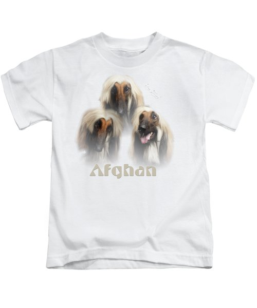 Beautiful Afghan Hound  Kids T-Shirt