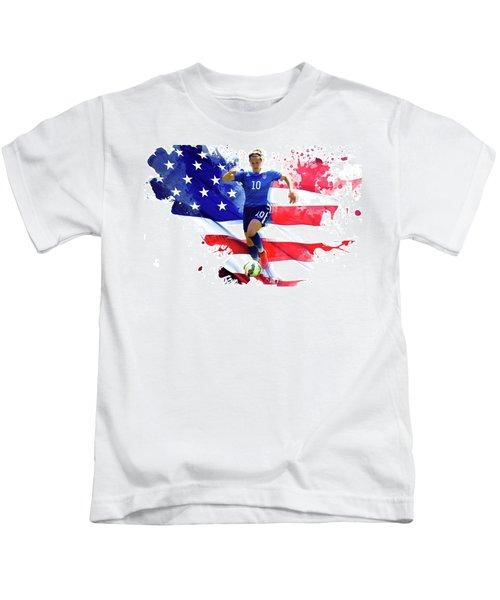 Carli Lloyd Kids T-Shirt by Semih Yurdabak