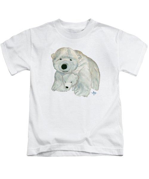 Cuddly Polar Bear Kids T-Shirt by Angeles M Pomata
