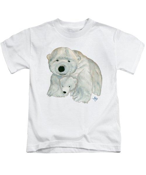 Cuddly Polar Bear Kids T-Shirt