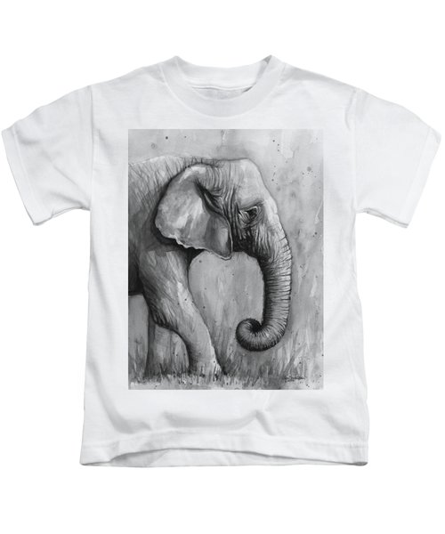 Elephant Watercolor Kids T-Shirt