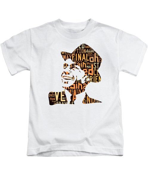 Frank Sinatra I Did It My Way Kids T-Shirt by Marvin Blaine