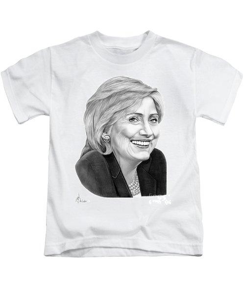 Hillary Clinton Kids T-Shirt by Murphy Elliott