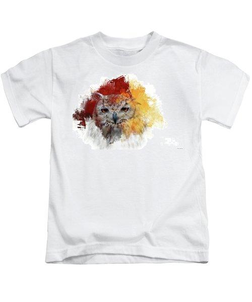 Indian Eagle-owl Kids T-Shirt