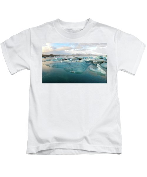 Jokulsarlon The Glacier Lagoon, Iceland 2 Kids T-Shirt