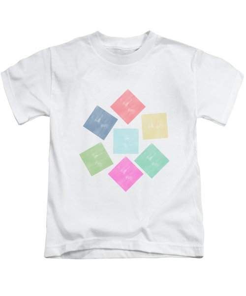 Lovely Geometric Background Kids T-Shirt