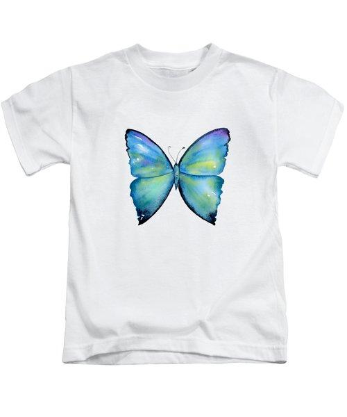 2 Morpho Aega Butterfly Kids T-Shirt