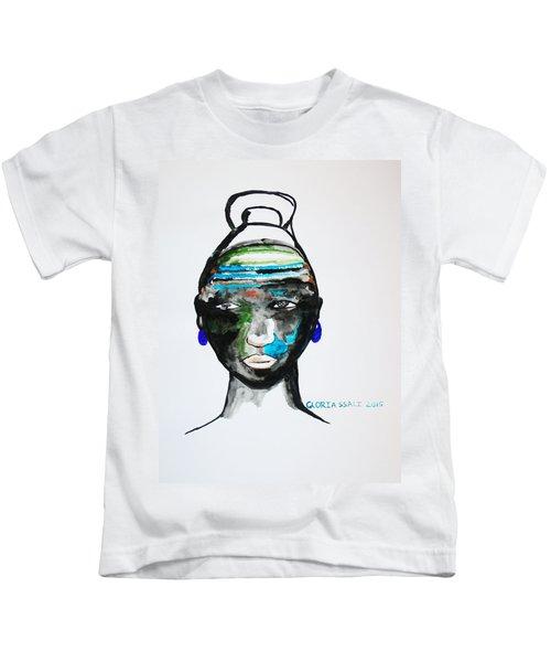 Nuer Bride - South Sudan Kids T-Shirt