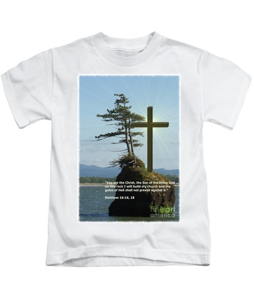 On This Rock I Will Build My Church Kids T-Shirt