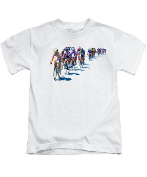 Philadelphia Bike Race Kids T-Shirt by Bill Cannon