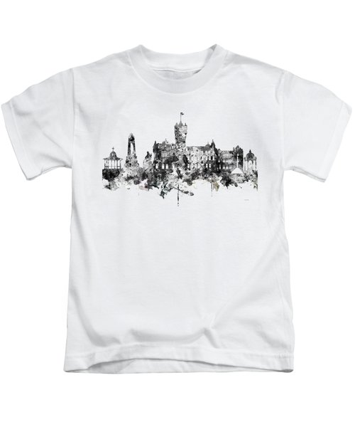 Rutherglen Scotland Skyline Kids T-Shirt by Marlene Watson