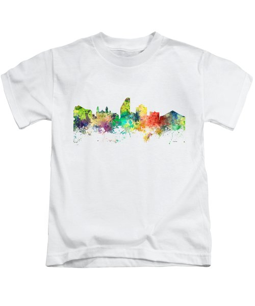 San Jose California Skyline Kids T-Shirt by Marlene Watson