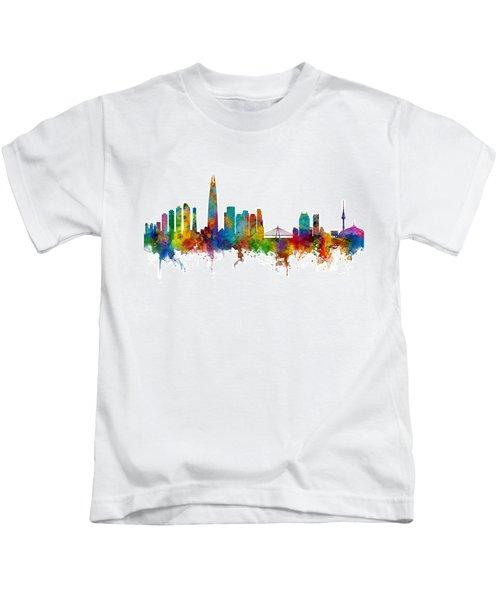 Seoul Skyline South Korea Kids T-Shirt