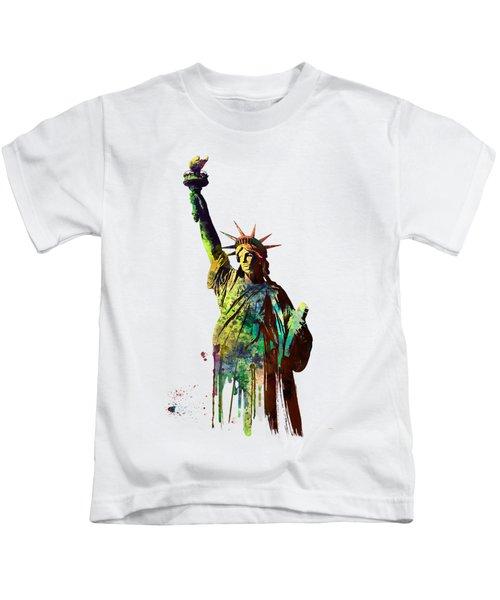 Statue Of Liberty Kids T-Shirt by Marlene Watson