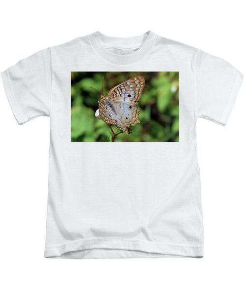 White Peacock Butterfly Kids T-Shirt