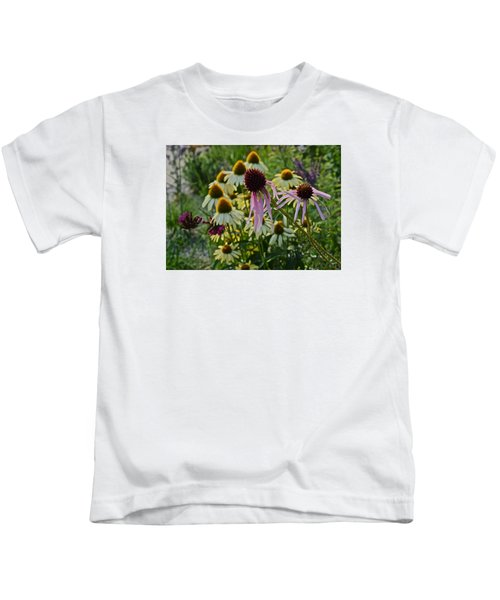 2015 Summer At The Garden Coneflowers Kids T-Shirt