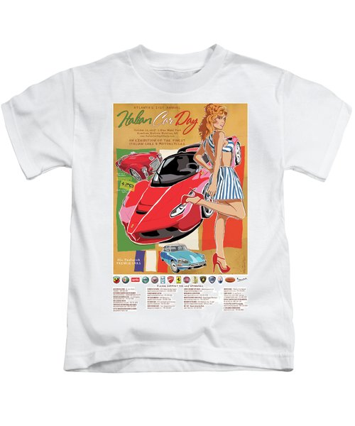 2017 Atlanta Italian Car Day Poster Kids T-Shirt