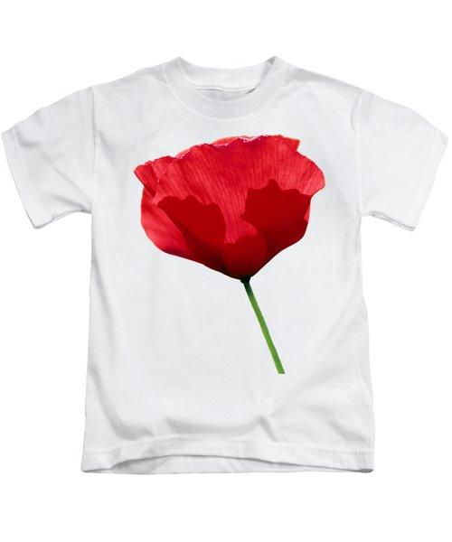 Poppy Flower Kids T-Shirt