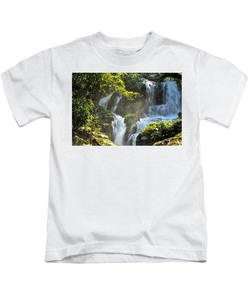 Waterfall Scenery Kids T-Shirt