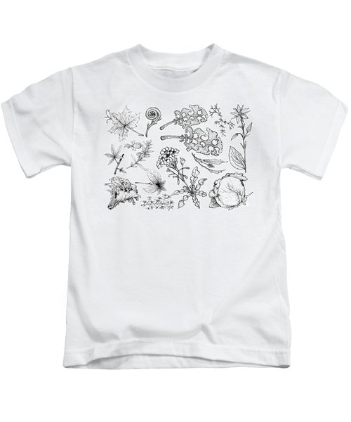Hand Drawn Of Leafy And Salad Vegetable Kids T-Shirt