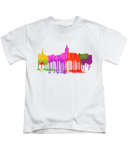Annapolis Maryland Skyline      Kids T-Shirt by Marlene Watson