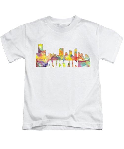Austin Texas Skyline Kids T-Shirt