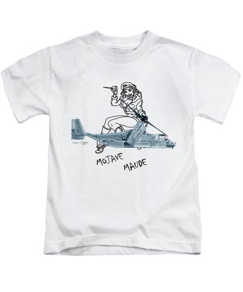 Bell Boeing Cv-22b Osprey Mojave Maude Kids T-Shirt