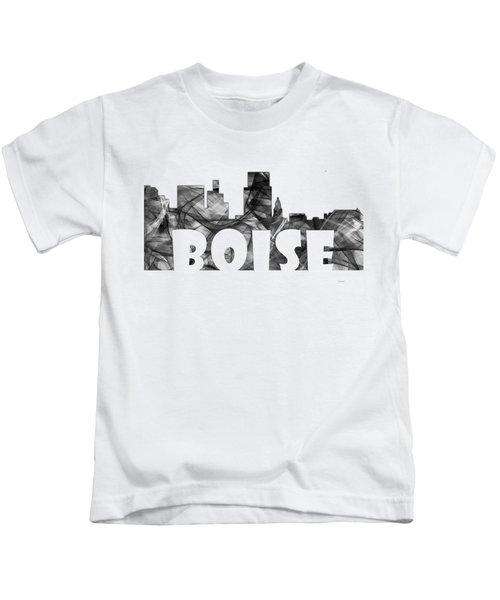 Boise Idaho Skyline Kids T-Shirt