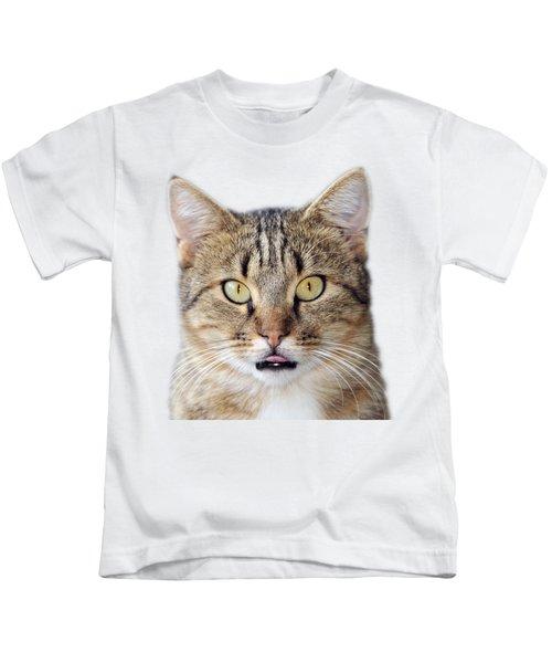 Cat Portrait Kids T-Shirt