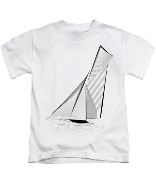 Falmouth Oyster Boat Kids T-Shirt