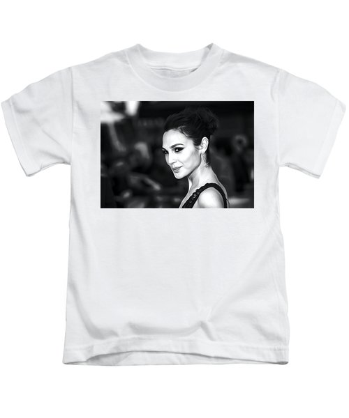 Gal Gadot Print Kids T-Shirt by Best Actors