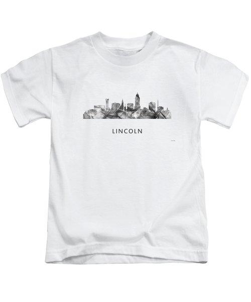 Lincoln Nebraska Skyline Kids T-Shirt