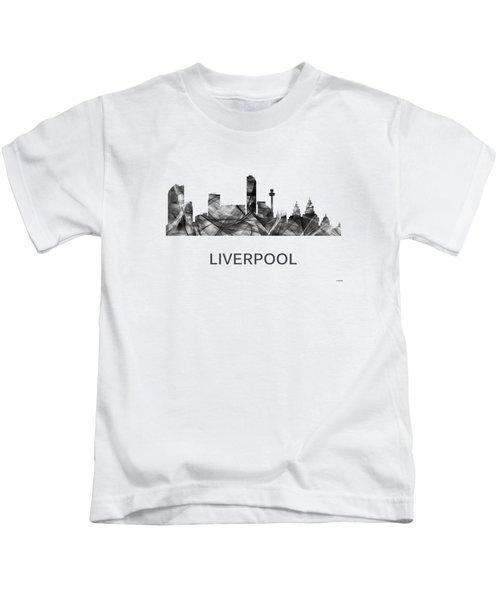 Liverpool England Skyline Kids T-Shirt