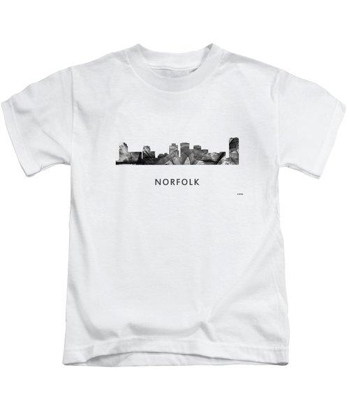 Norfolk Virginia Skyline Kids T-Shirt