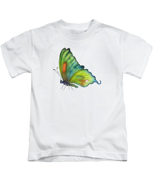 3 Perched Orange Spot Butterfly Kids T-Shirt