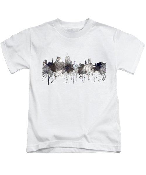 Quebec City Que. Skyline Kids T-Shirt