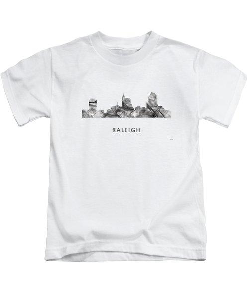 Raleigh North Carolina Skyline Kids T-Shirt