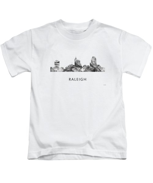 Raleigh North Carolina Skyline Kids T-Shirt