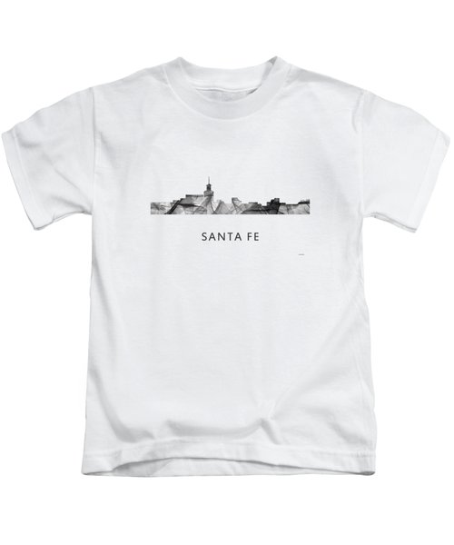 Santa Fe New Mexico Skyline Kids T-Shirt