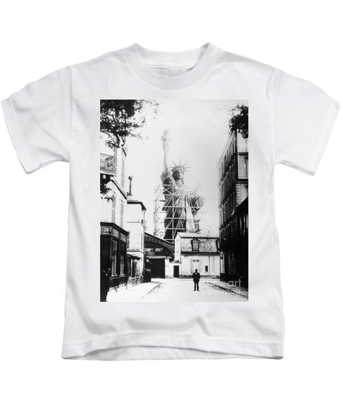 Statue Of Liberty, Paris Kids T-Shirt