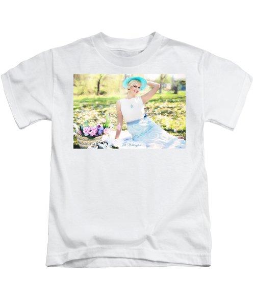 Vintage Val Magnolias Kids T-Shirt