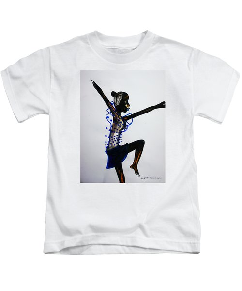 Dinka Dance - South Sudan Kids T-Shirt