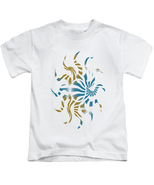 Kids T-Shirt featuring the mixed media 3d Spiral Art by Christina Rollo