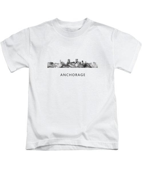 Anchorage Alaska Skyline Kids T-Shirt
