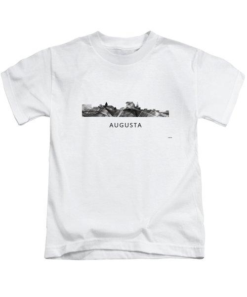Augusta Maine Skyline Kids T-Shirt