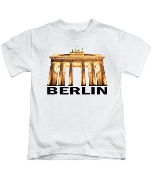 Brandenburg Gate Kids T-Shirt by Julie Woodhouse
