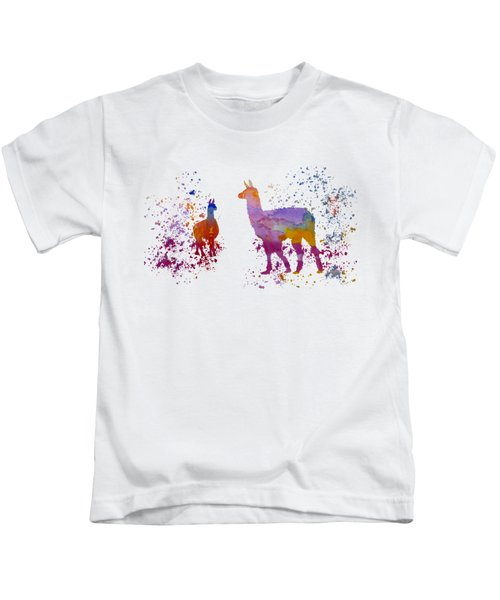 Llamas Kids T-Shirt by Mordax Furittus