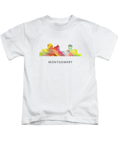 Montgomery Alabama Skyline Kids T-Shirt