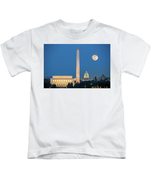 4 Monuments Kids T-Shirt